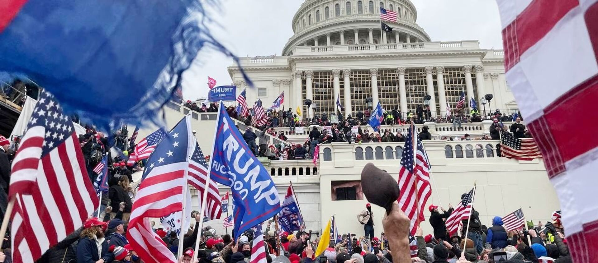 Акция протеста сторонников Д. Трампа в Вашингтоне - Sputnik Абхазия, 1920, 18.01.2021
