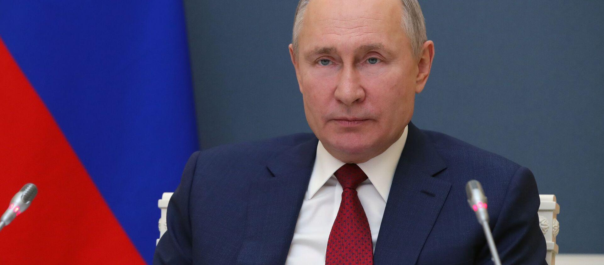 Президент РФ В. Путин выступил на сессии онлайн-форума Давосская повестка дня 2021 - Sputnik Абхазия, 1920, 27.01.2021