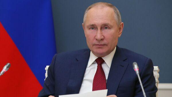 Президент РФ В. Путин выступил на сессии онлайн-форума Давосская повестка дня 2021 - Sputnik Абхазия