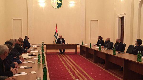 Встреча президента Абхазии с общественностью  - Sputnik Аҧсны