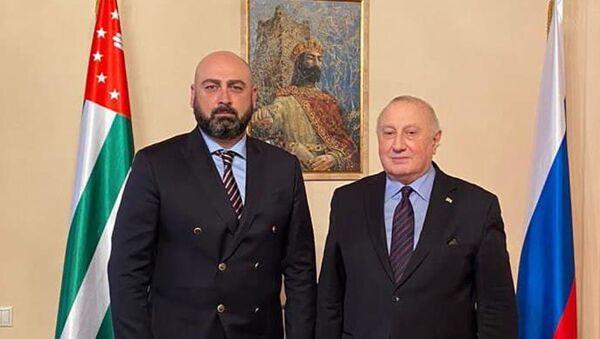 Теймураз Хишба и Игорь Ахба - Sputnik Аҧсны