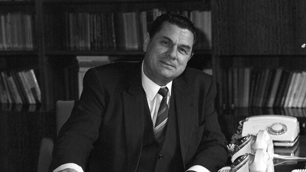 Абхазская АССР. Первый секретарь Абхазского обкома КП Грузии Борис Викторович Адлейба (1931-1990 гг). - Sputnik Аҧсны