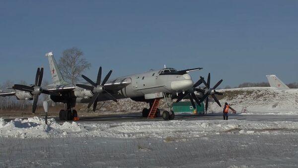 Полеты Ту-95МС в Амурской области - Sputnik Абхазия