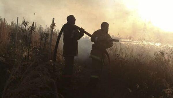 Cотрудники ПСЧ по охране Очамчырского района ликвидировали природные пожары в селах Мыку - Sputnik Аҧсны