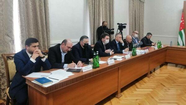 Заседание рабочей группы по выработке рекомендаций развития экономики Абхазии - Sputnik Абхазия
