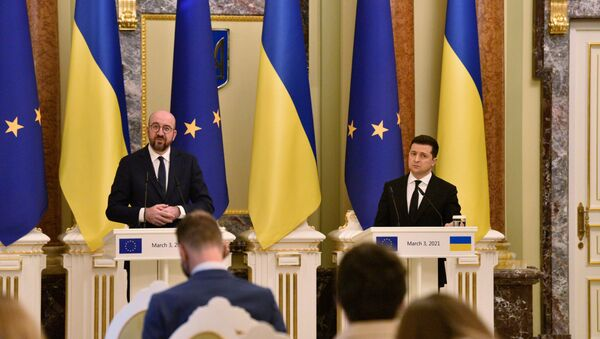 Визит президента Евросоюза Ш. Мишеля в Киев - Sputnik Абхазия