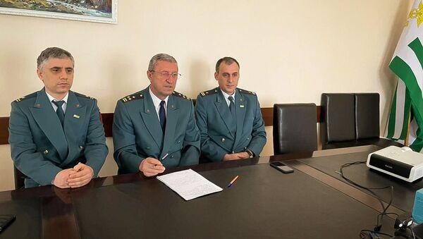 Онлайн-конференция между руководством Федеральной налоговой службы России и Министерством по налогам и сборам Республики Абхазия - Sputnik Аҧсны