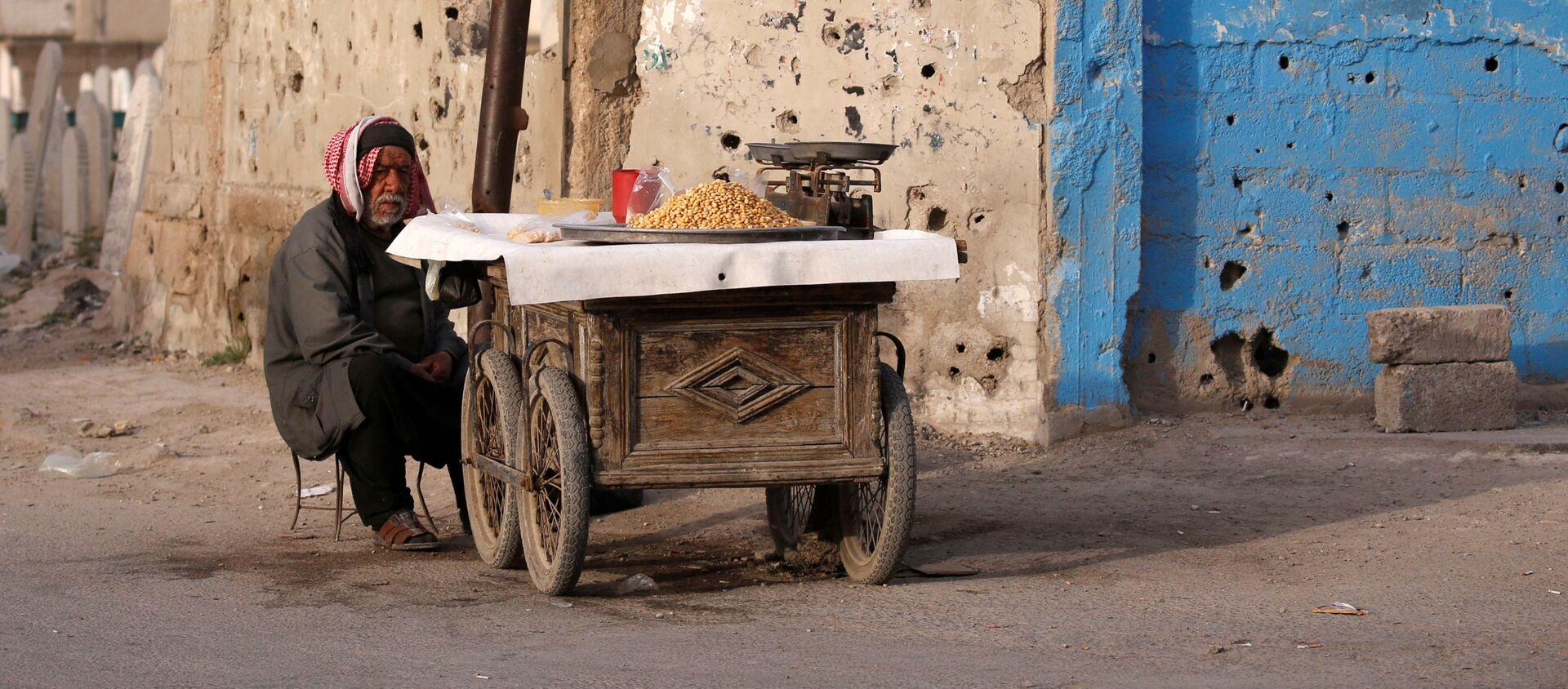 Уличный продавец в Думе, пригороде Дамаска, Сирия - Sputnik Абхазия, 1920, 08.06.2021