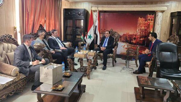 Хутаба Баграта с Чрезвычайным и Полномочным Послом  с Исламской Республикой Йемен Абдулла Али Сабри. - Sputnik Абхазия