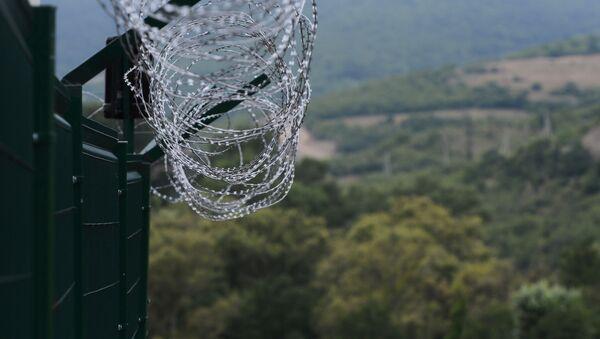 Пограничный пост упрощенного перехода границы Мосабруни Республики Южная Осетия. - Sputnik Абхазия