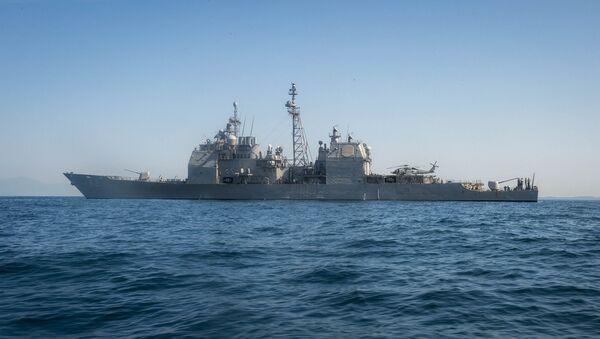 Крейсер ВМС США Монтерей - Sputnik Аҧсны