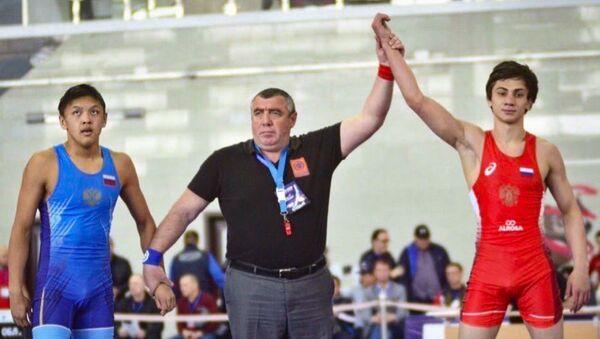Марат Кокоскерия стал победителем первенства Центрального Федерального округа по вольной борьбе среди юниоров - Sputnik Абхазия