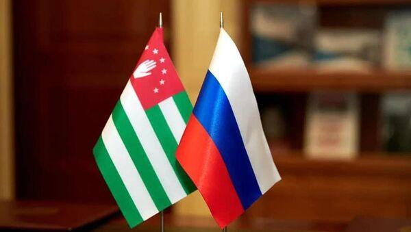 Флаг Абхазии и России  - Sputnik Аҧсны