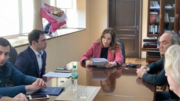29 марта в Министерстве экономике состоялось совещание по вопросам устранения последствий оползня в городе Новый Афон. - Sputnik Абхазия