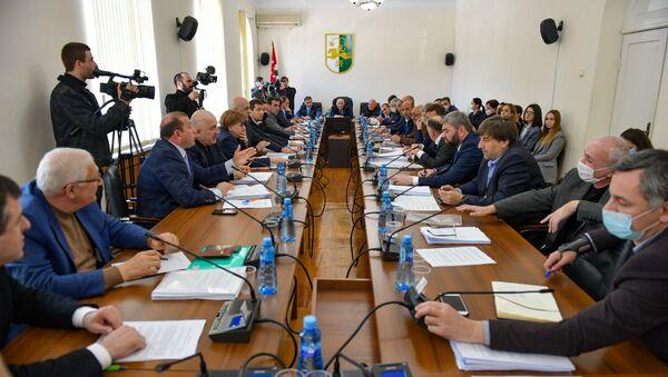 Заседание парламента Республики Абхазия  - Sputnik Аҧсны