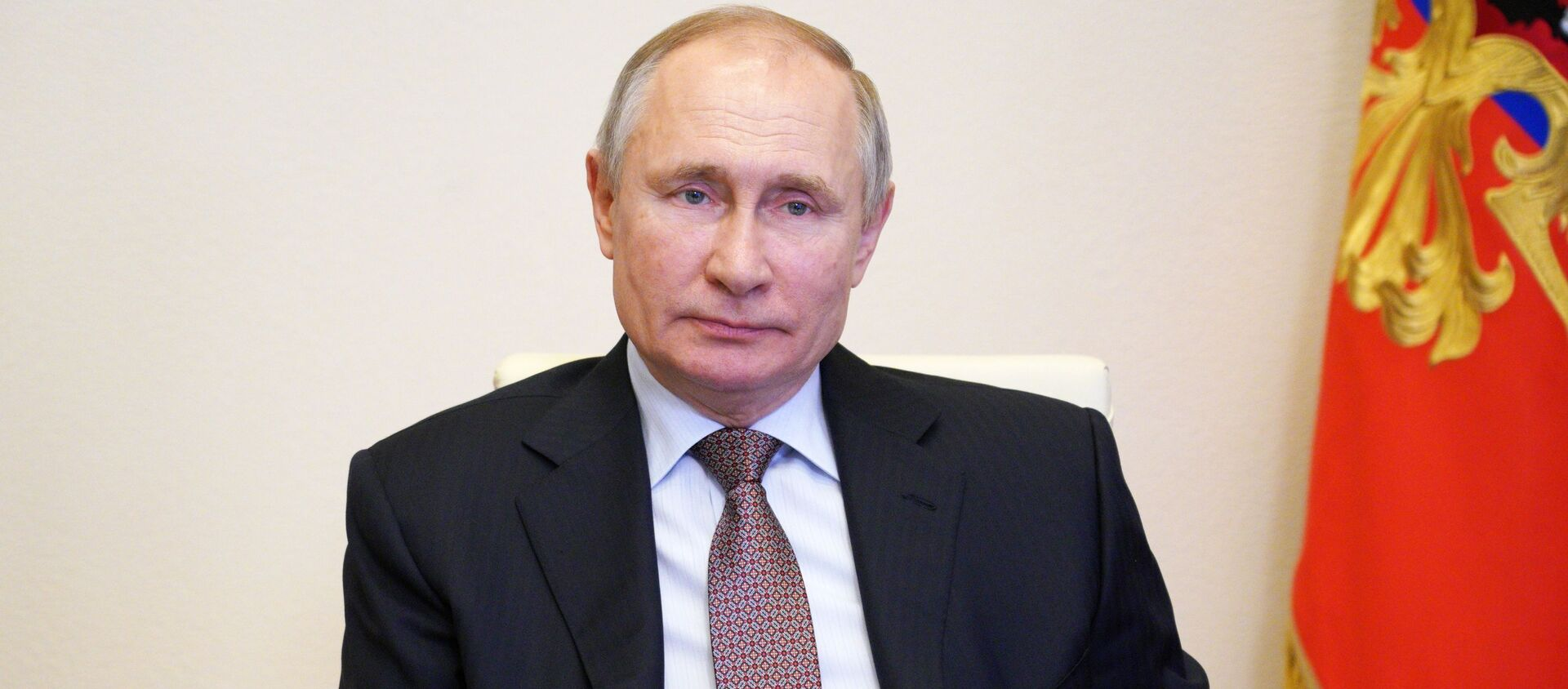 Президент РФ В. Путин принял участие в церемонии подписания соглашения между объединениями профсоюзов, работодателей и правительством РФ - Sputnik Абхазия, 1920, 09.04.2021