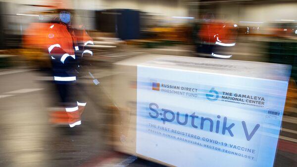 Доставка вакцины Sputnik V на склад в грузовой терминал Москва Карго - Sputnik Аҧсны