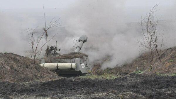 Артиллерийские подразделения российской военной базы Южного военного округа  в Абхазии  - Sputnik Абхазия