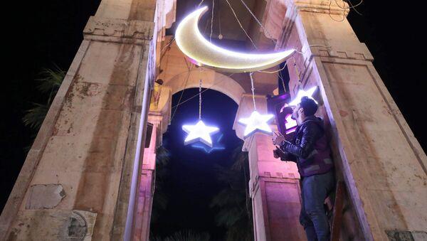 Декорации в честь начала священного месяца Рамадан в Сирии   - Sputnik Абхазия