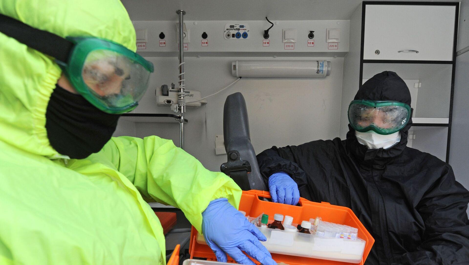 Работа скорой помощи с больными коронавирусом в Тамбове - Sputnik Аҧсны, 1920, 30.08.2021