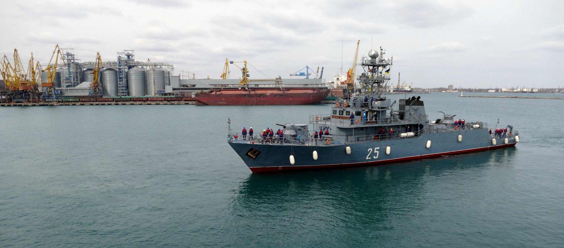 В порт Одессы вошли военные корабли НАТО - Sputnik Аҧсны, 1920, 21.04.2021