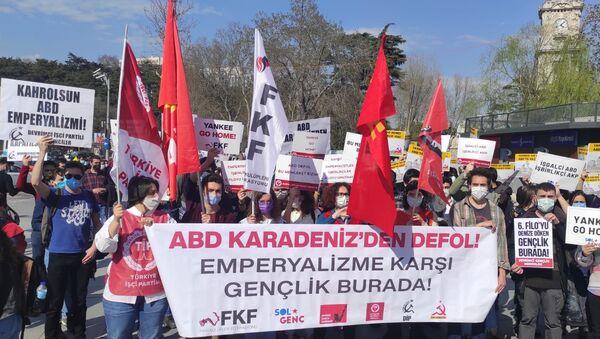 Турецкие молодежные организации выразили протест против отправки американских военных кораблей в Черном море - Sputnik Аҧсны