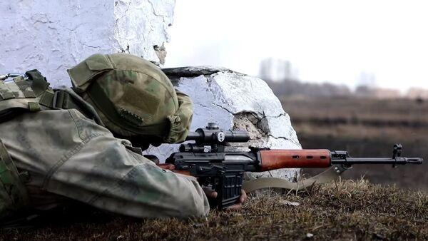 Комплексное учение разведчиков ЦВО в рамках контрольной проверки за зимний период обучения - Sputnik Абхазия