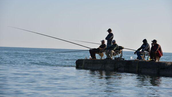 Рыбаки на причале  - Sputnik Абхазия