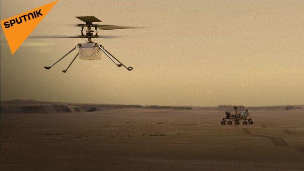 Первый полет на Марсе: NASA успешно запустило вертолет Ingenuity     - Sputnik Абхазия