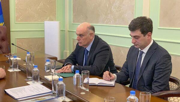 Сегодня в Росавиации состоялась рабочая встреча Президента Абхазии Аслана Бжания - Sputnik Абхазия