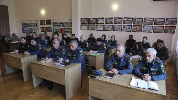 В МЧС Абхазии прошло совещание с участием руководства центрального аппарата - Sputnik Аҧсны