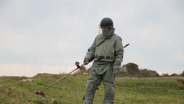 Саперы ЮВО в Абхазии приступили к плановой очистке полигонов от неразорвавшихся боеприпасов по итогам проведения контрольной проверки - Sputnik Аҧсны