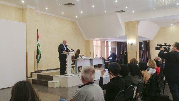 Съезд политической партии Аитайра - Sputnik Абхазия