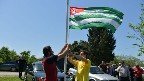 Конноспортивные соревнования ко Дню Победы начались в Кутоле - Sputnik Абхазия
