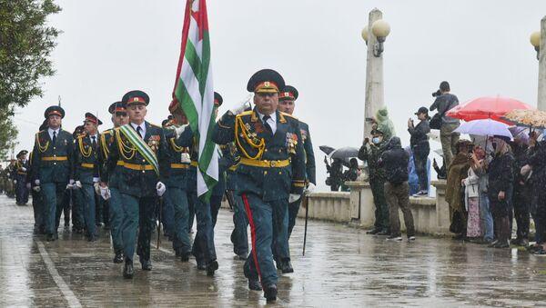 Парад Великой Победы прошел на набережной Диоскуров в Сухуме  - Sputnik Аҧсны