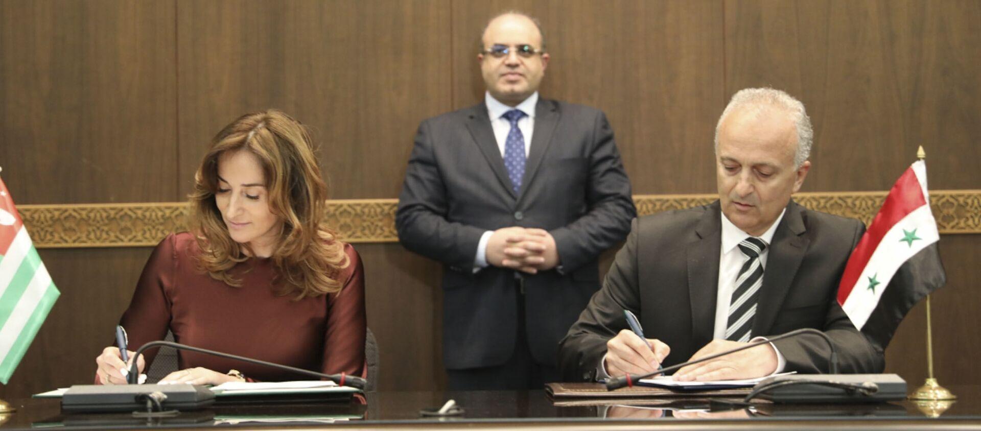 Кристина Озган подписала Соглашение о сотрудничестве между сирийскими и абхазскими портами - Sputnik Абхазия, 1920, 18.05.2021