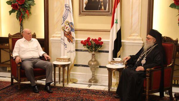 Президент Аслан Бжания встретился с Патриархом Антиохийским Иоанном X в Соборе Святой Девы Марии в Дамаске - Sputnik Абхазия