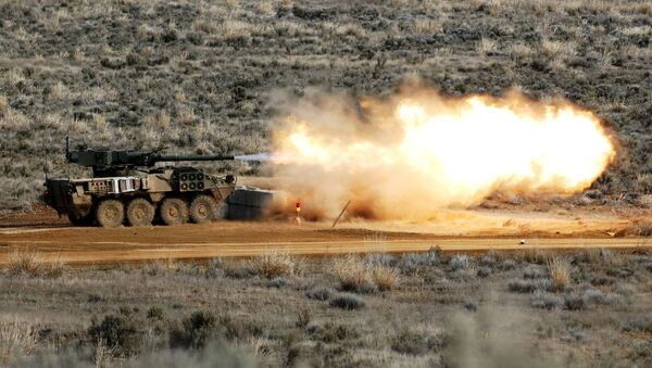 Артиллерийская самоходка  Strykeer - Sputnik Абхазия