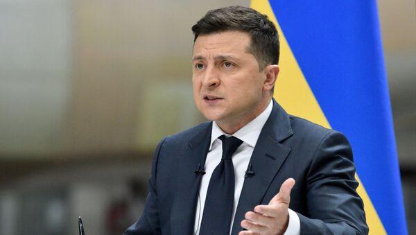 Пресс-конференция президента Украины В. Зеленского - Sputnik Абхазия