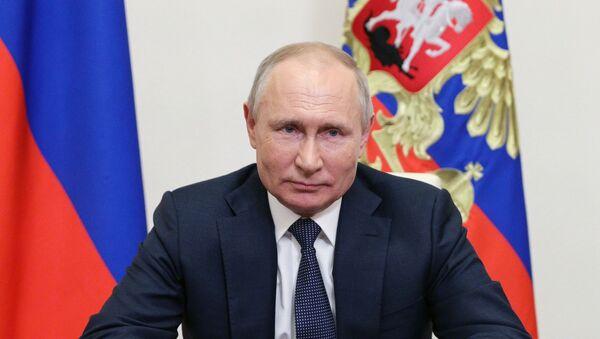 Президент РФ В. Путин выступил с обращением к участникам онлайн - форума Новое знание - Sputnik Абхазия