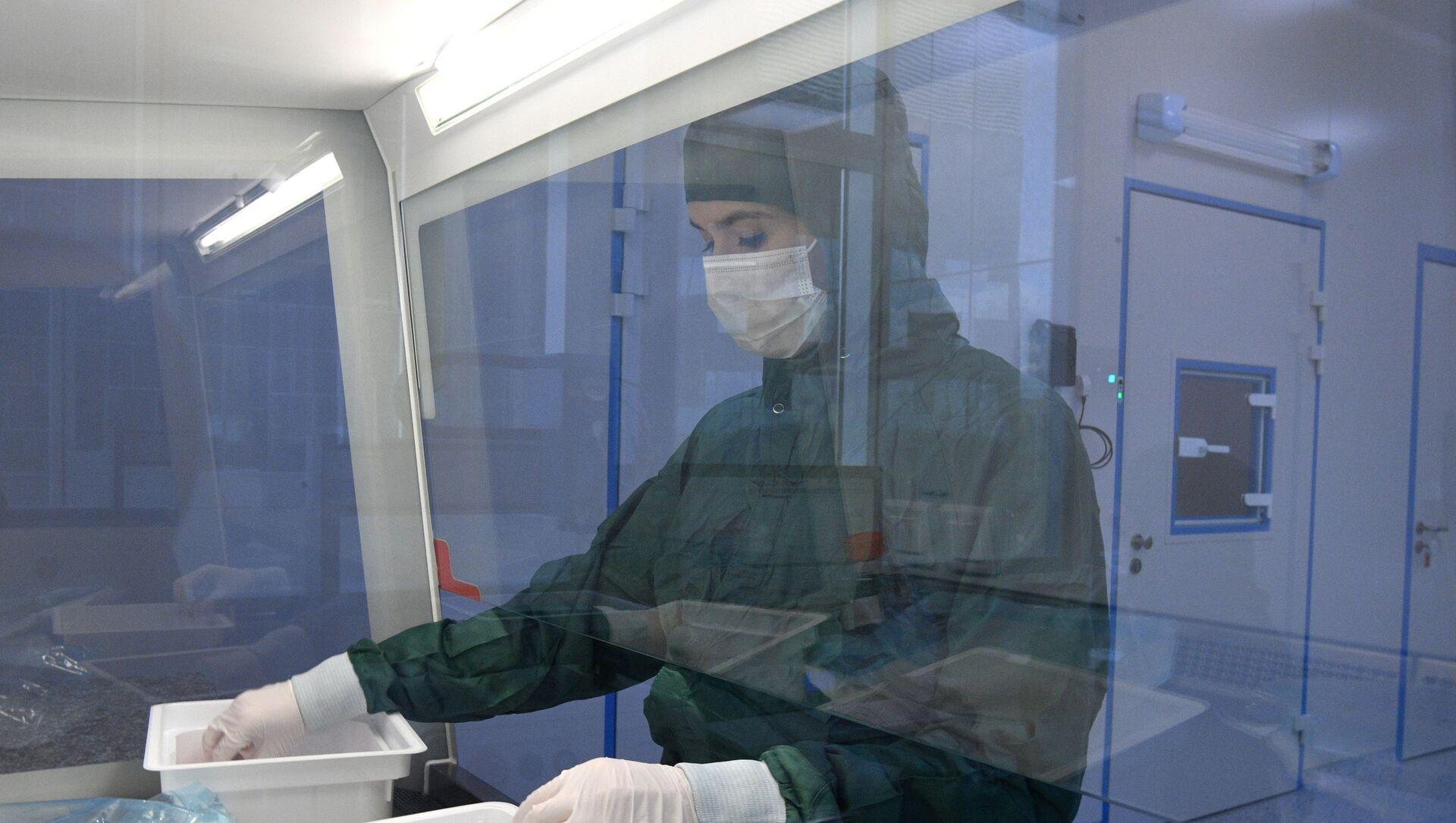 Лаборатория по производству реагентов для экспресс-тестов на коронавирус в Сколково - Sputnik Абхазия, 1920, 07.09.2021