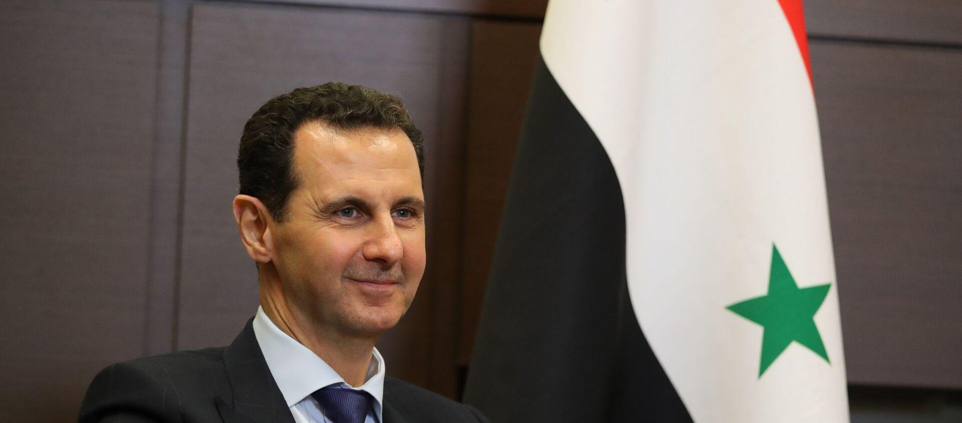 Президент РФ В. Путин встретился в Сочи с главой Сирии Б. Асадом - Sputnik Абхазия, 1920, 03.06.2021