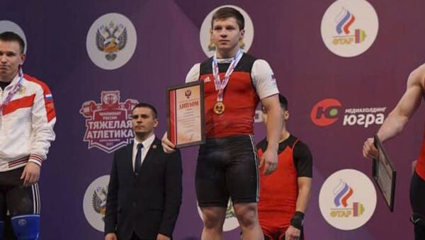 Элкан Гвазава стал чемпионом России по тяжелой атлетике - Sputnik Абхазия