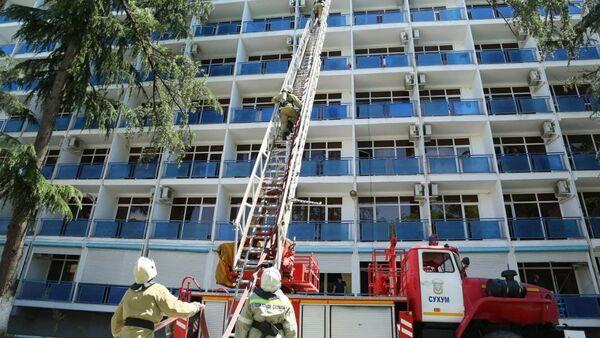 Пожарно - технические учения МЧС  - Sputnik Абхазия