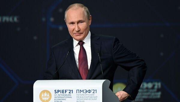 Президент РФ В. Путин принял участие в пленарном заседании ПЭМФ-2021 - Sputnik Абхазия
