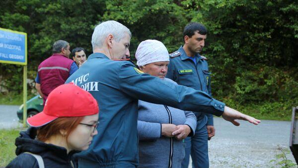 Поиски Дарьи Манасовой в Бзыбском ущелье - Sputnik Абхазия