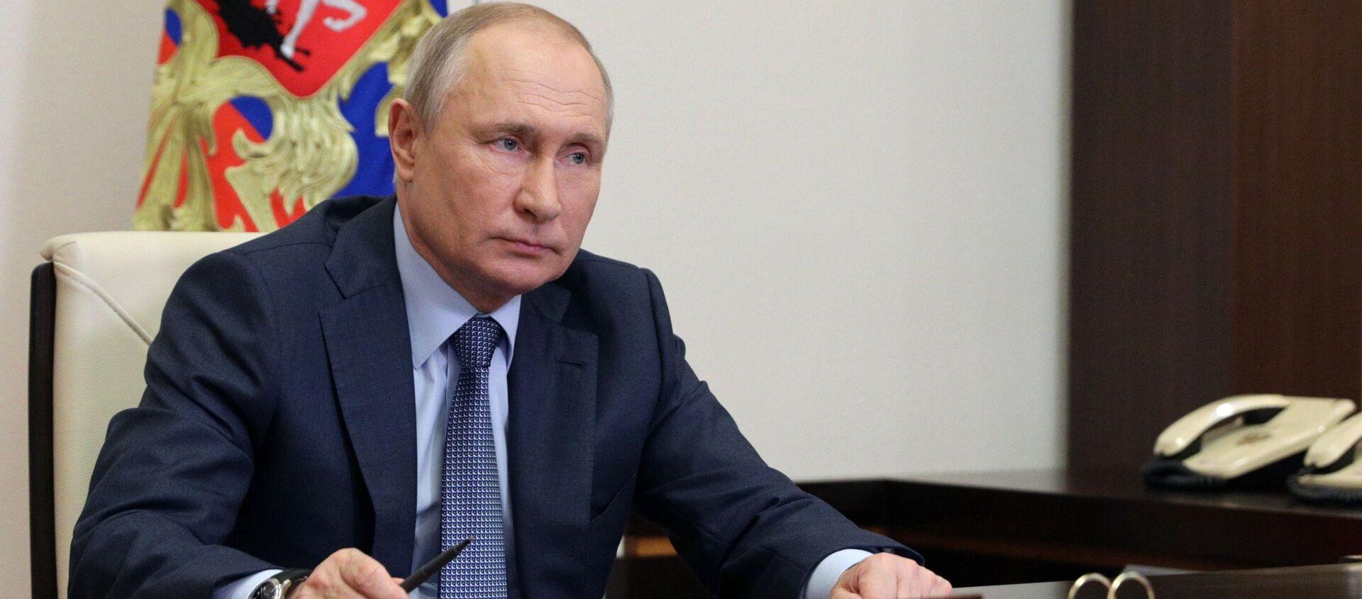 Президент РФ В. Путин встретился с представителями социальных организаций - Sputnik Абхазия, 1920, 10.06.2021