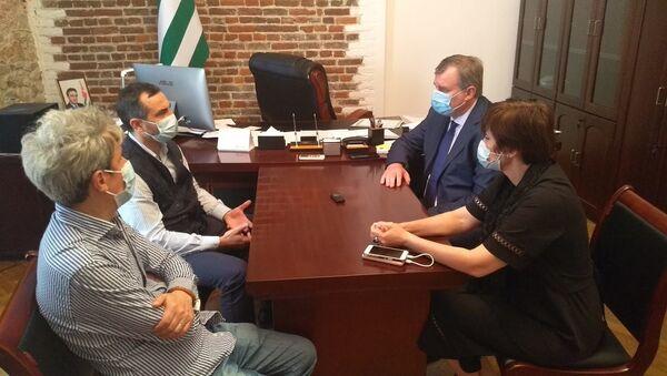 Министр здравоохранения Эдуард Бутба встретился с представителями Всемирной организации здравоохранения - Sputnik Аҧсны