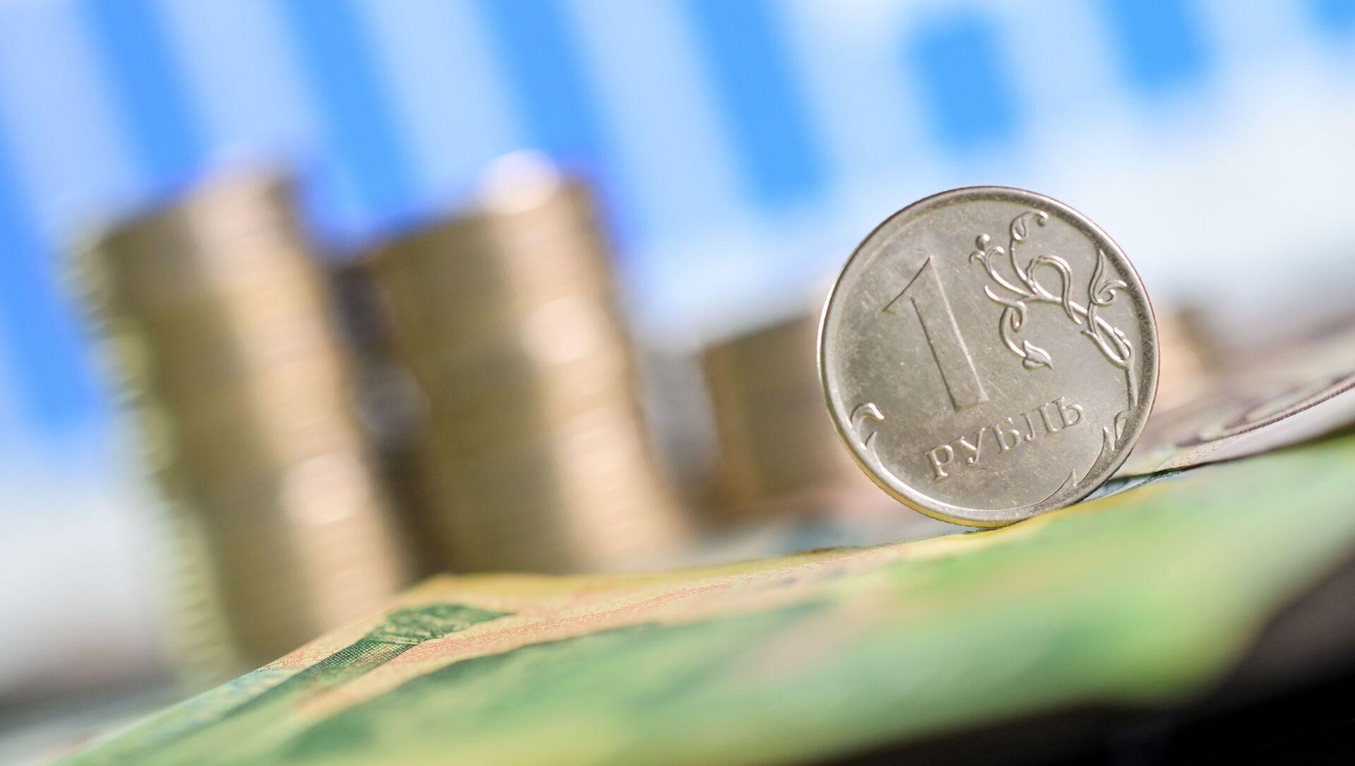 Монета номиналом один рубль. - Sputnik Абхазия, 1920, 08.09.2021