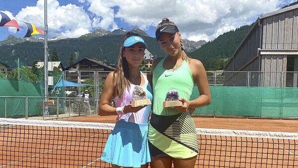 Амина Аншба вместе с Анастасией Детюк из Чехии выиграли двадцатипятитысячник ITF WTT в швейцарском Клостерсе.  - Sputnik Абхазия